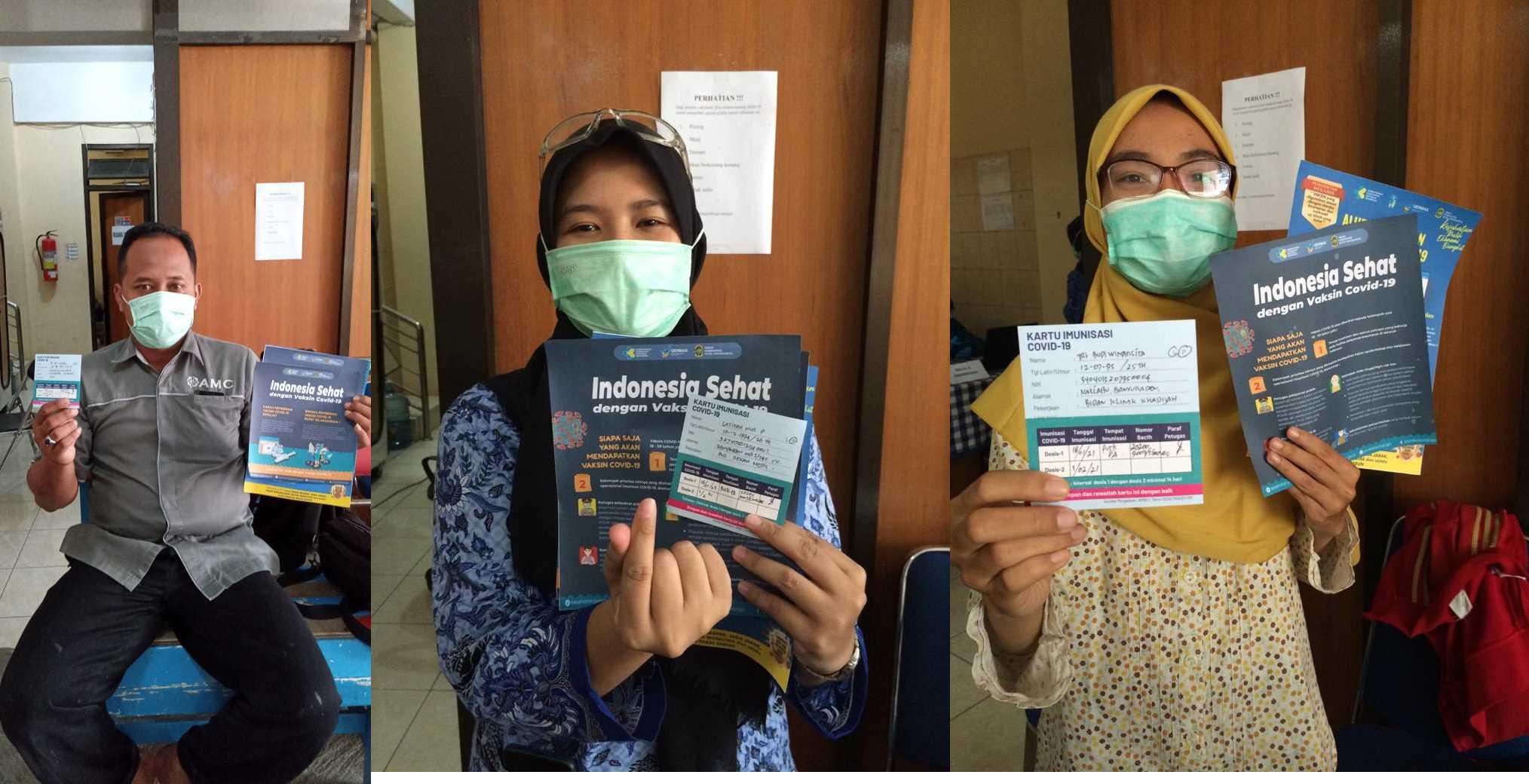 Peserta vaksinasi Covid-19 tanggal 18 Januari 2021 di UPT Puskesmas Pakualaman